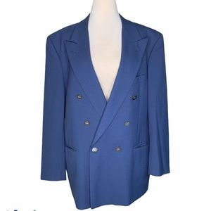 Vintage Burberry double breasted navy blue blazer